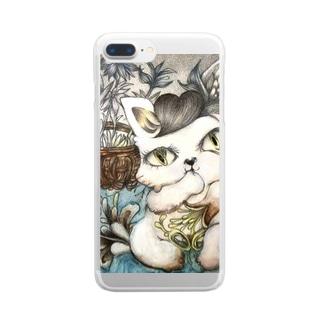 不思議な子猫 Clear smartphone cases