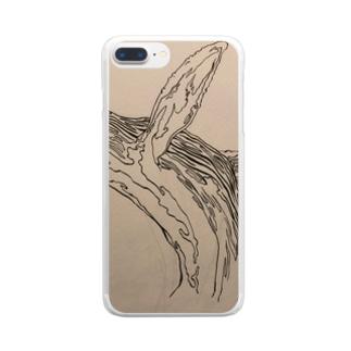 和柄 鯨 Clear smartphone cases