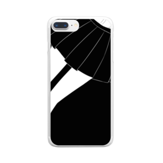 piorのスカート(モノクロ) Clear smartphone cases