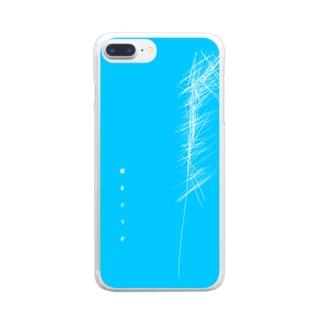 傷と青色 Clear smartphone cases