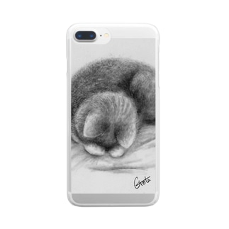 ごめん寝 Clear smartphone cases