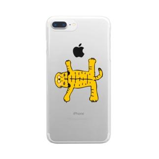 おまぬけなトラさん Clear smartphone cases