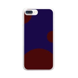群青に飲まれる(ver.文字なし) Clear smartphone cases