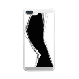 裂け目 Clear smartphone cases