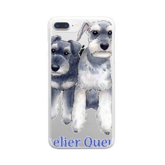 ミニチュアシュナウザー・カップル Clear smartphone cases