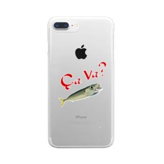 小鯖日和 其の2 Clear smartphone cases