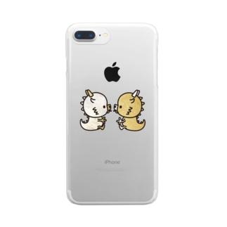 きんりゅーぎんりゅーはなしあい Clear smartphone cases