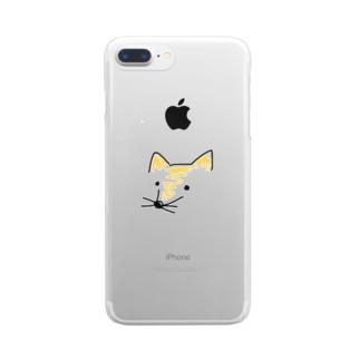 fox クリアスマートフォンケース
