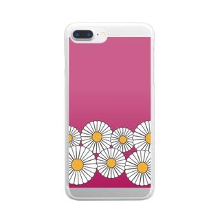 ひな菊 Clear Smartphone Case