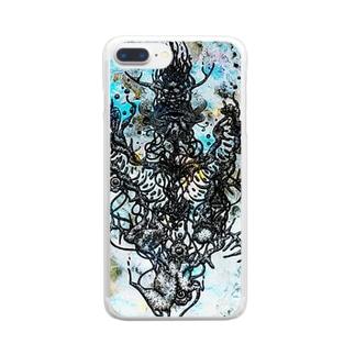 ブクブク Clear smartphone cases