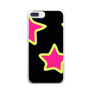 テガキボシ Clear smartphone cases
