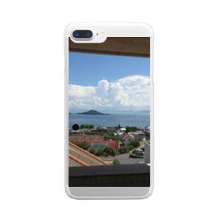 ある日のある島 Clear smartphone cases