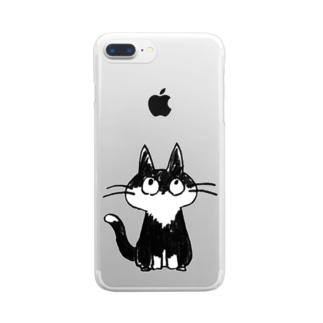 猫 クリアスマートフォンケース