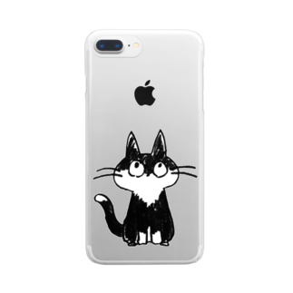 irusuの猫 Clear smartphone cases