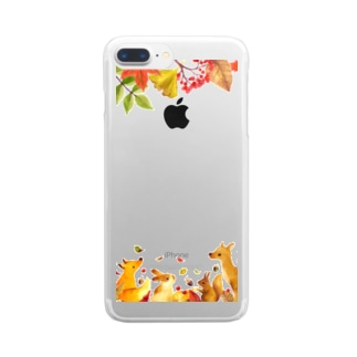 Visite d'automne(秋の訪れ) Clear smartphone cases