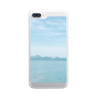 窓から見える、海のいろ。 Clear smartphone cases