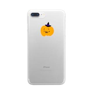 パンプキン Clear smartphone cases