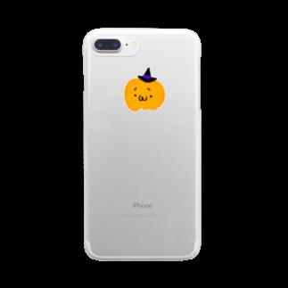 月野忍子のパンプキン Clear smartphone cases