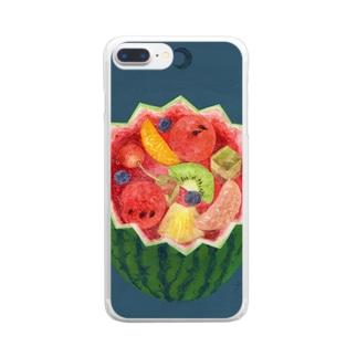 フルーツパンチの泉 Clear smartphone cases