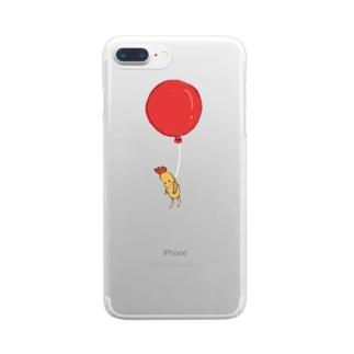 空飛ぶえび天くん Clear smartphone cases