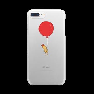 月野忍子の空飛ぶえび天くん Clear smartphone cases