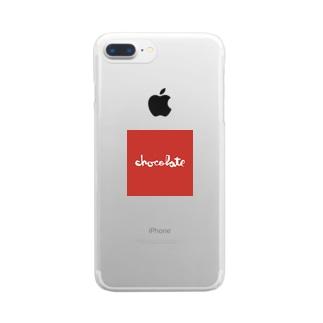 chocolateskateboards Clear smartphone cases