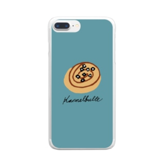 kanelbulle 青 Clear smartphone cases