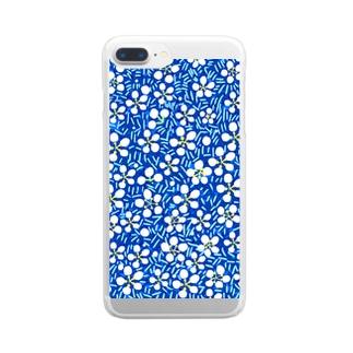 白梅(青) Clear smartphone cases