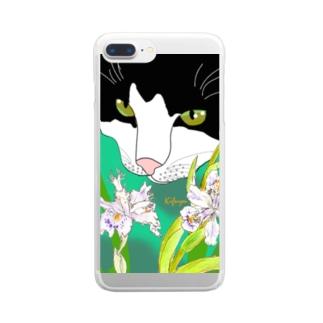 はちわれ Clear smartphone cases
