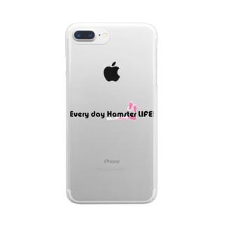 Every day hamster LIFE! クリアスマートフォンケース