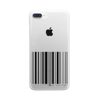 BARCODE - MONO Clear smartphone cases