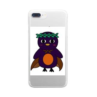 黒友会 オリジナルキャラクター レイくん Clear smartphone cases