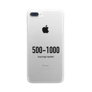 POINTS - 500-1000 Clear smartphone cases