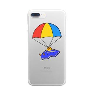 パラシュートウミウシさん Clear smartphone cases