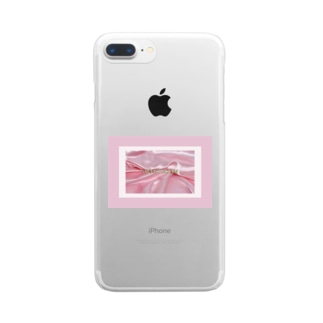 SWEET ROOM pink satin  Clear smartphone cases