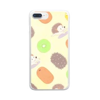 キウイ&ハリー Clear smartphone cases