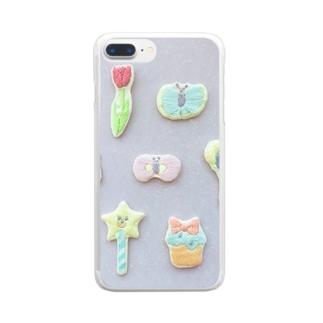 パステルカラーの子たち Clear smartphone cases