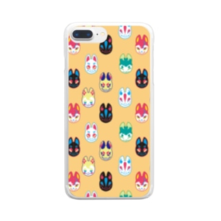 狐面集会 Clear smartphone cases
