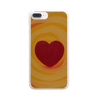 燦々ハート Clear smartphone cases