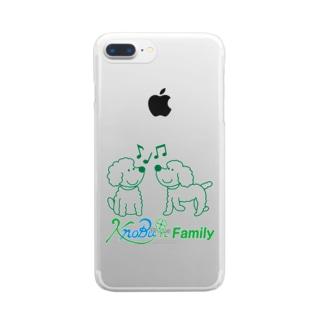 ツインズ(プードル)ロゴ入り Clear smartphone cases