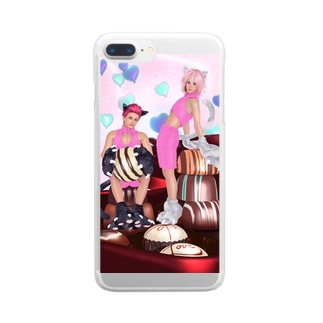 Love From Tiny Cats Clear smartphone cases
