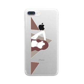 TEHEE (triangle) Clear smartphone cases