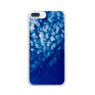 都会の秋空 Clear smartphone cases