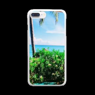 Una Villa Shopのビーチリゾート3 Clear smartphone cases