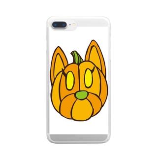 クッキーパンプキン Clear smartphone cases