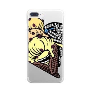 マダム ラムレーズン・スミコ Clear smartphone cases