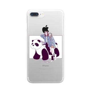 パンダカー Clear smartphone cases