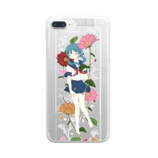 ハーバリウム少女 〈ガーベラ〉 Clear smartphone cases