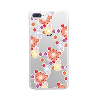 和柄(白) Clear smartphone cases