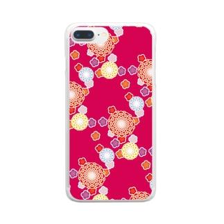 和柄(赤) Clear smartphone cases